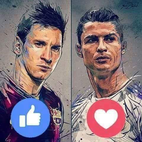 Like Messi & Love Ronaldo