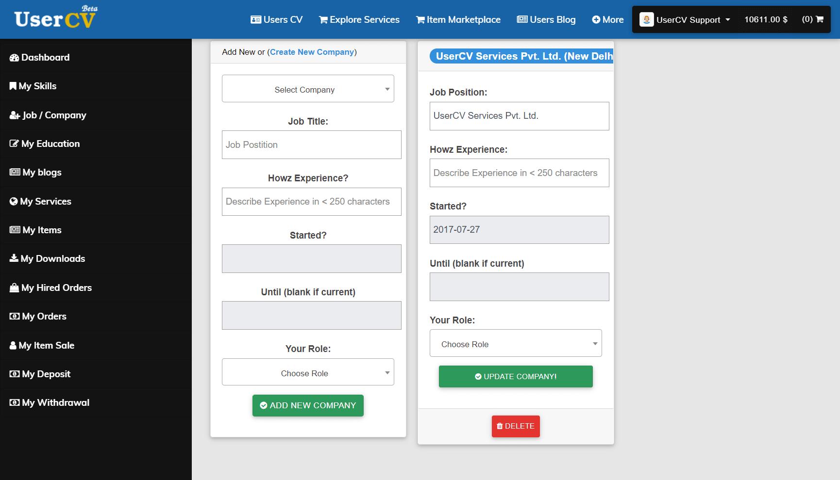 FreelancerCV - Fiverr Clone - Envato Clone - Tumblr Clone - About.me Clone (Multi Domain SAAS) - Company page list