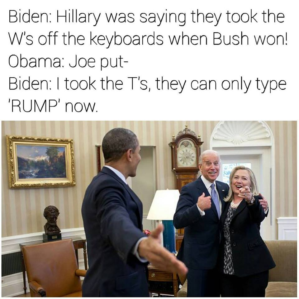 Donald Trump meme with Biden and Obama