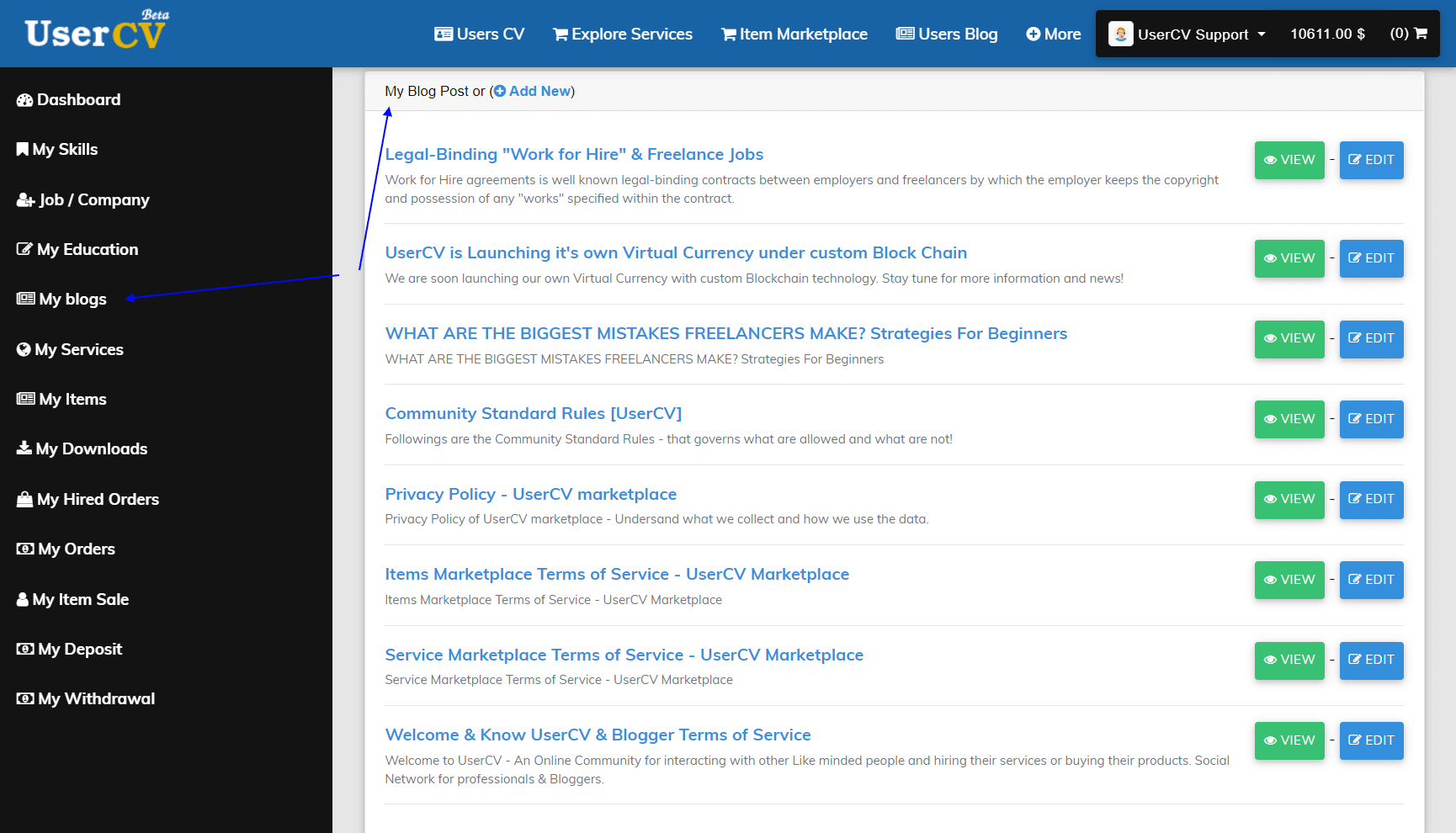 FreelancerCV - Fiverr Clone - Envato Clone - Tumblr Clone - About.me Clone (Multi Domain SAAS) - Blogger Dashboard