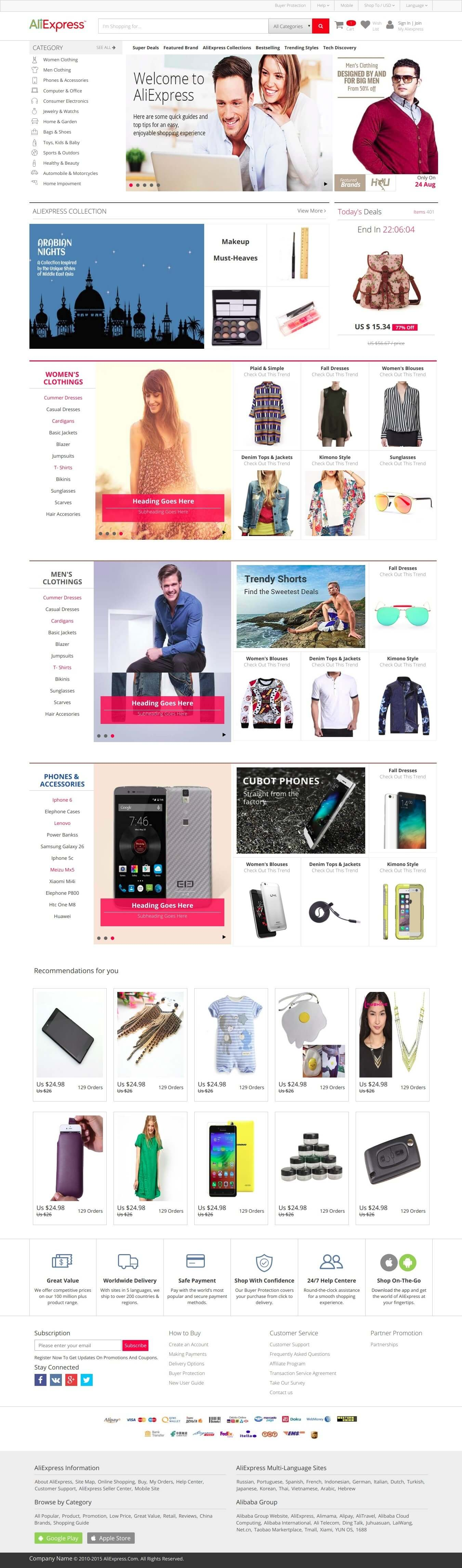Ali Express E-Commerce HTML Clone template