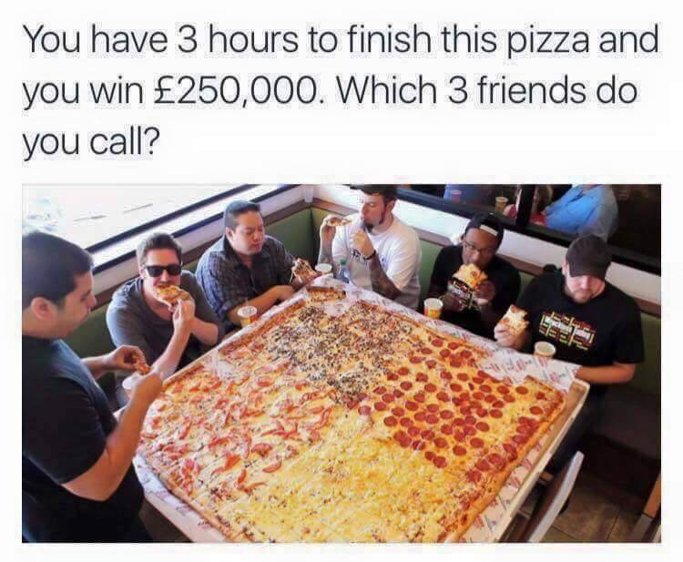 Pizza Competition for 250,000 pound