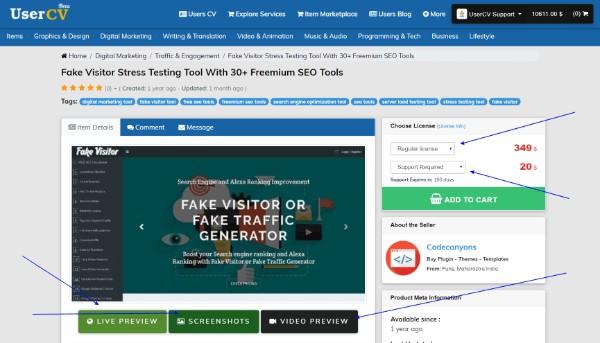 FreelancerCV - Fiverr Clone - Envato Clone - Tumblr Clone - About.me Clone (Multi Domain SAAS) - Item page details