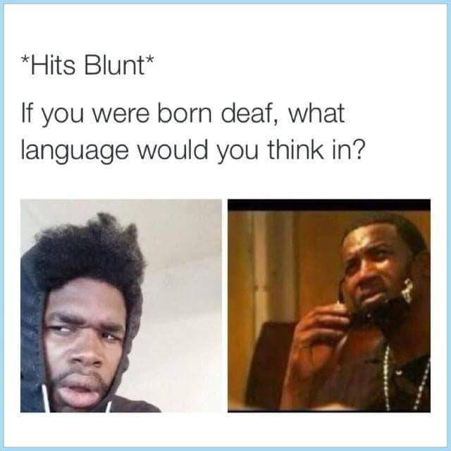 If you were born deaf, what language would you think in?