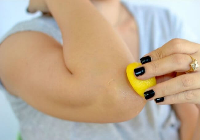 Squeeze and Rub lemon on stubborn dirty part of body. Read Below